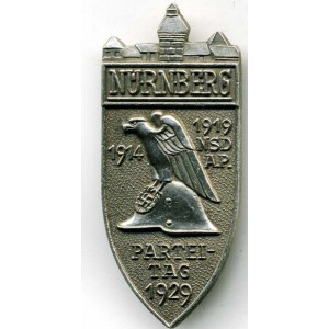 German Nazi Party Silver Tag Nurnberg - 1929