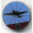Luftwaffe Air Defence Radio Operator's enameled lapel pin