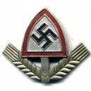 R.A.D. Labour Corps Officer's metal and enamel insignia