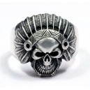 BIKER  STAINLESS  STEEL  ANCIENT  INDIAN  FACE  MENS  RING