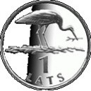 1-lats coin featuring a stork
