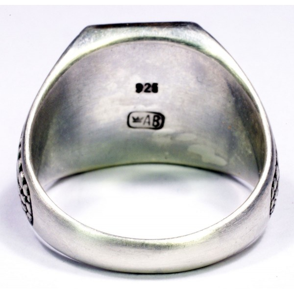 Confederate Flag sterling silver ring