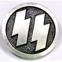 Silver Nazi SS Runes Pin badge