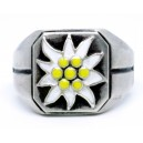 Alpen Divisions Edelweiss silver ring