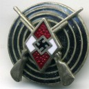 German Hitler Jugend Rifle Proficiency Enamel Badge